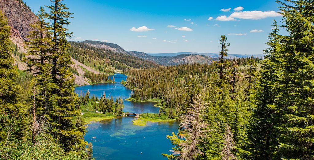 Una estampa idílica en Mammoth Lakes