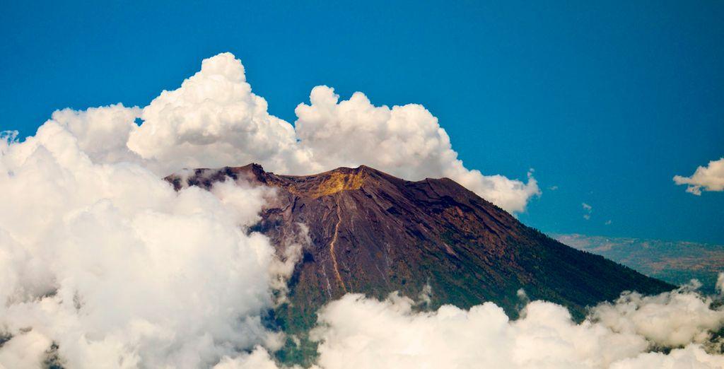 Vistas del Volcán Gunung Agun