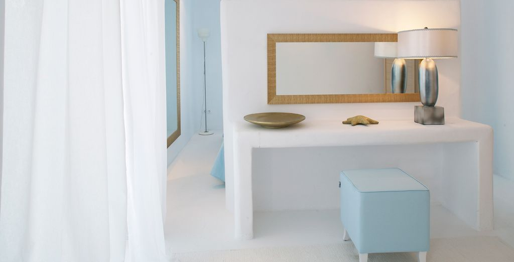 Estas estancias cuantan con una decoración minimalista que inspira calma