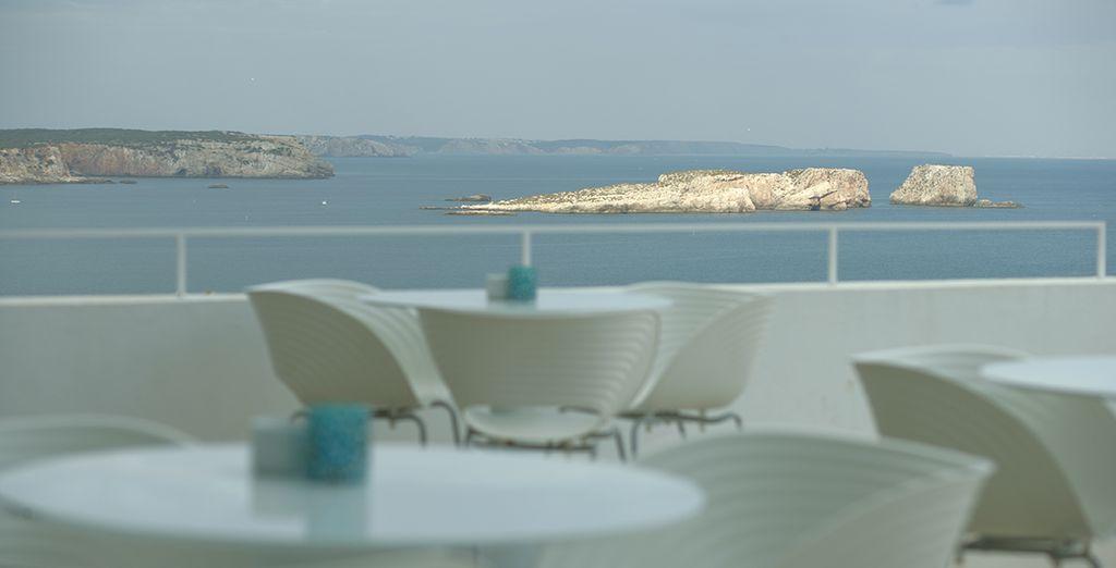 La terraza, desde la que contemplar increíbles vistas