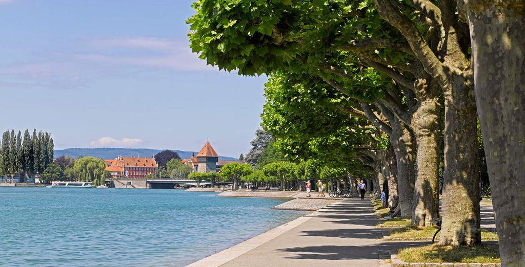 Agradables paseos junto al lago