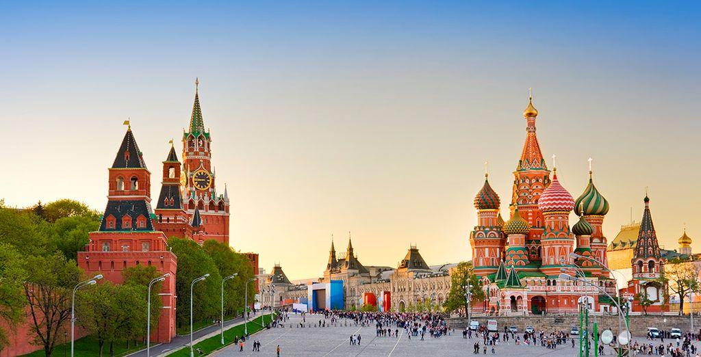 El tercer día visitarás el Kremlin