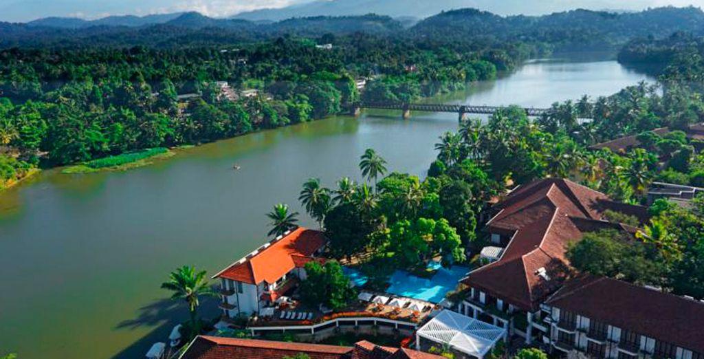 Bienvenido al hotel Mahaweli Reach Hotel 5* en Kandy