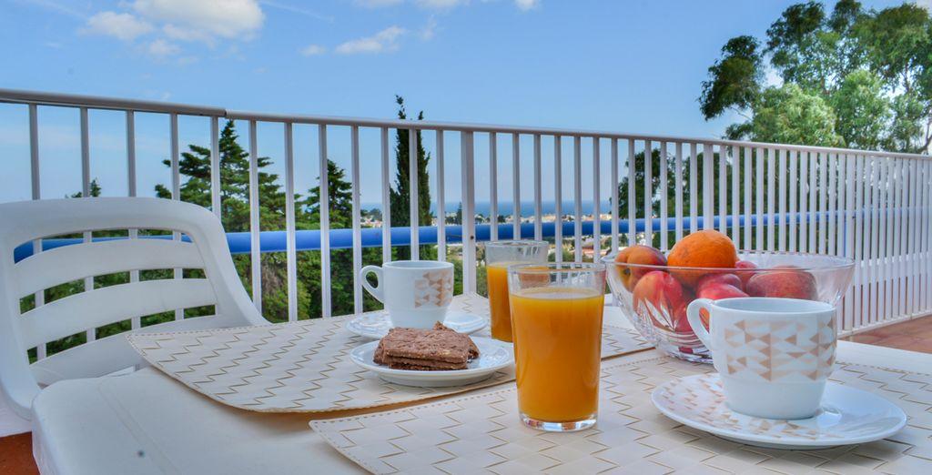 Un desayuno al aire libre