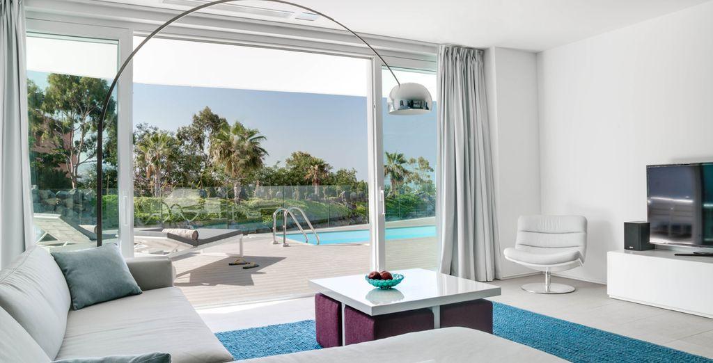 Suites modernas y confortables con vistas impresionantes