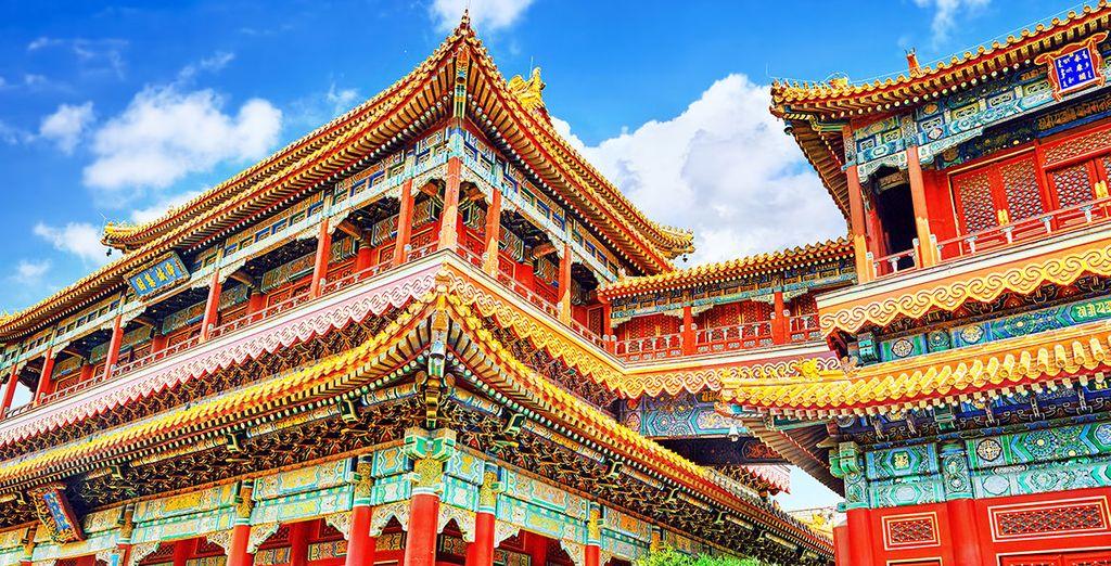 Visitarás el Templo de Yonghe, uno de los monumenots budistas más importantes de Pekín