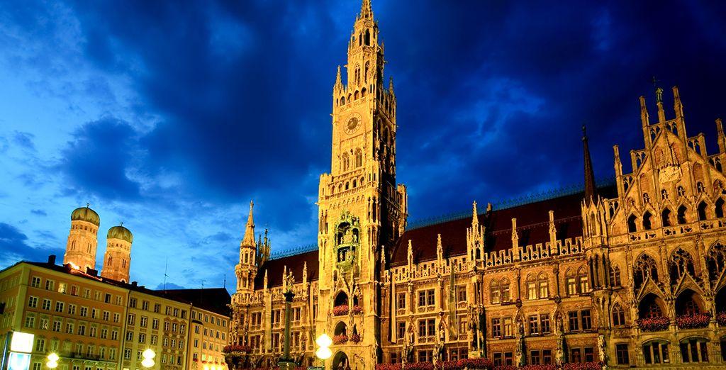 Marienplatz es el centro de la vida urbana