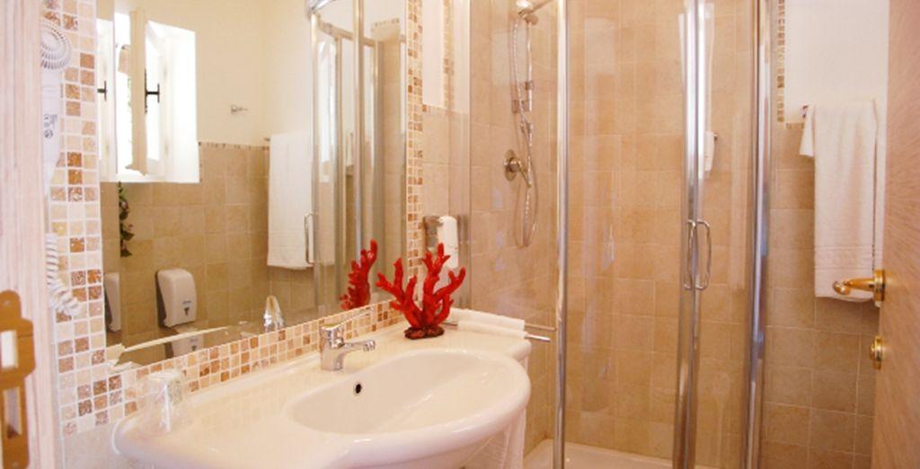 Detalle del baño de su Habitación Comfort