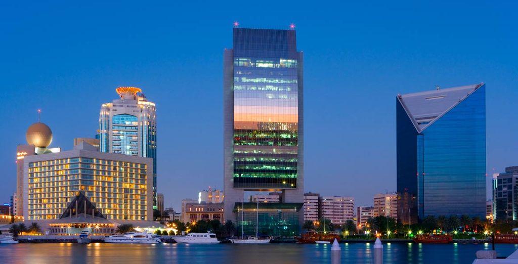 Disfrute de los grandes edificios y gratacielos