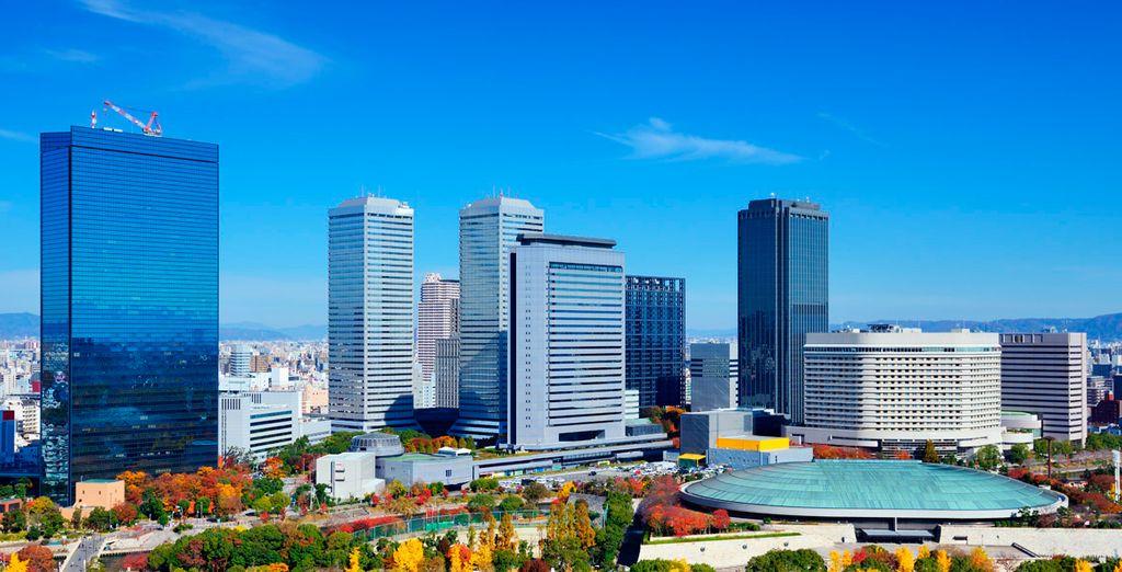 Vistas aéreas de Osaka