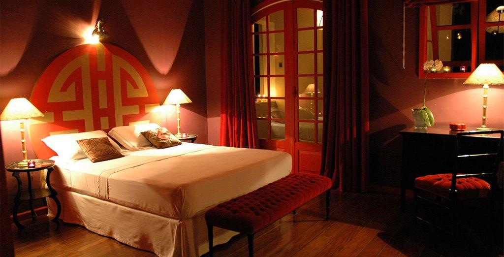 Escoja su estancia en la Suite Shangai...