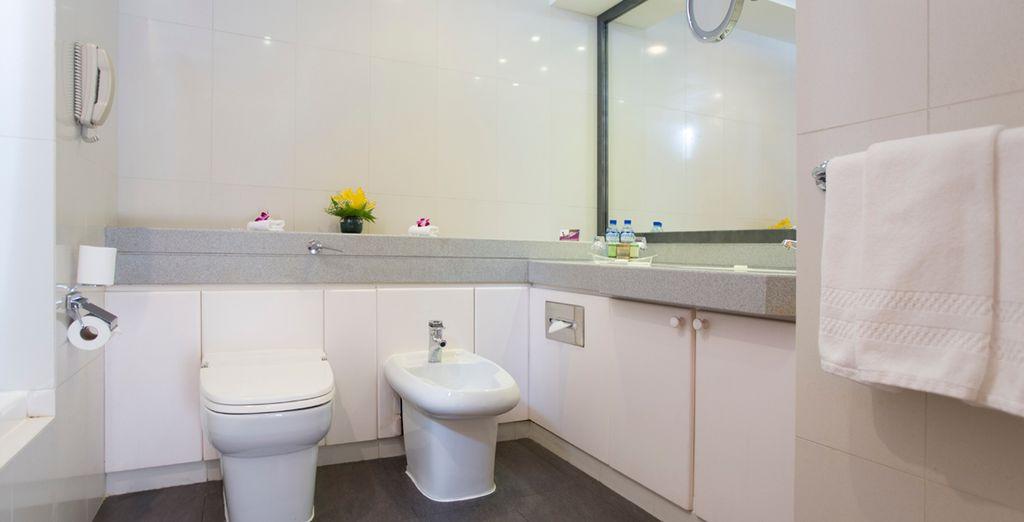 Baños equipados al mínimo detalle