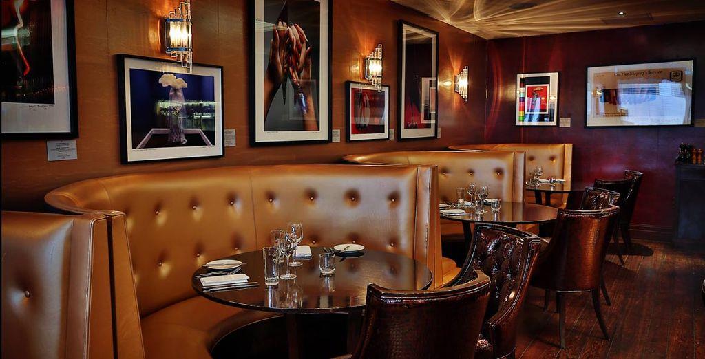 El restaurante No. 20 presenta una atractiva decoración de estilo vintage...