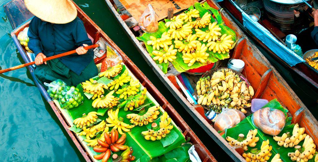 Mercados flotantes de Tailandia