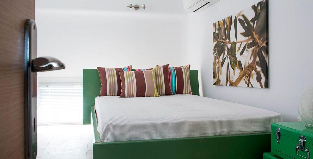 Alegres colores llenan las habitaciones