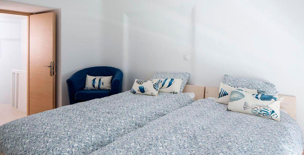 Las habitaciones inspiran calma y tranquilidad
