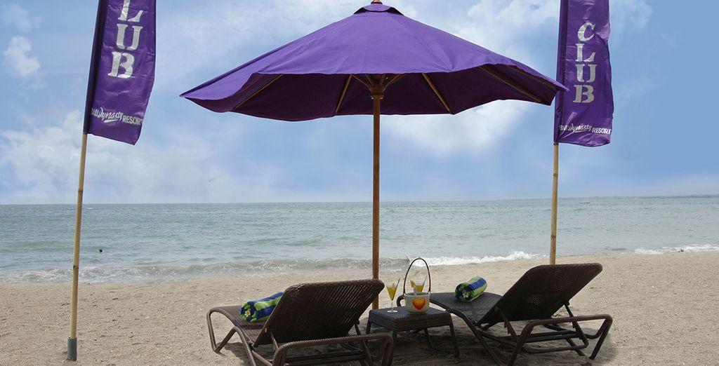 Relájese cogiendo sol en la playa