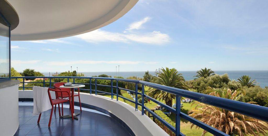 Vistas de lujo desde el balcón