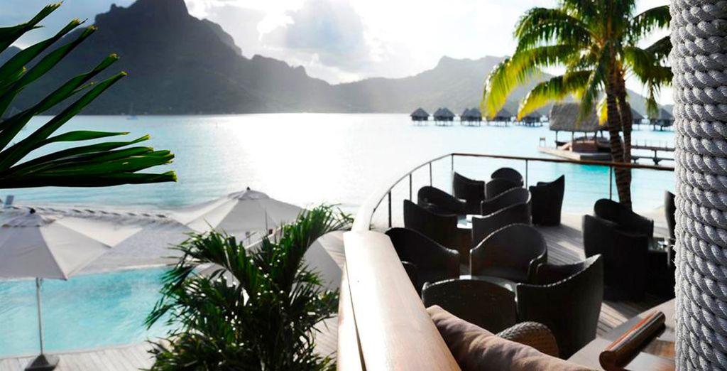 Déjese llevar en Bora Bora por sus paisajes y la paz del lugar