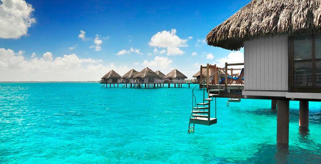 Los Bungalow del Meridien Bora Bora tiene acceso directo al mar