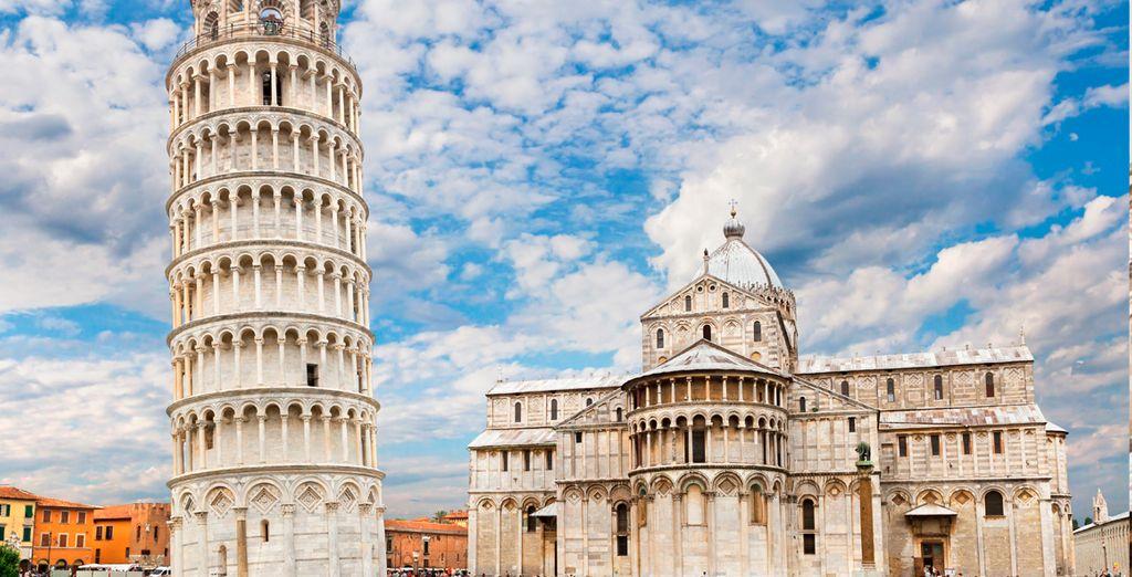 La inconfundible Torre de Pisa