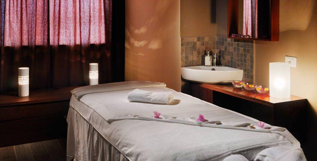 Disfrutelo con un buen masaje o tratamiento