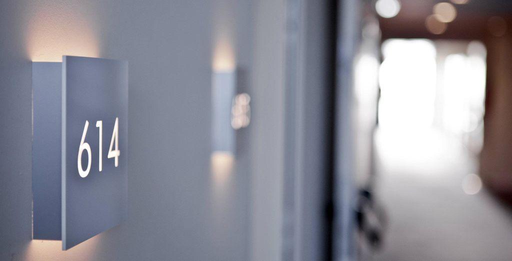 Detalle del pasillo hacia las habitaciones