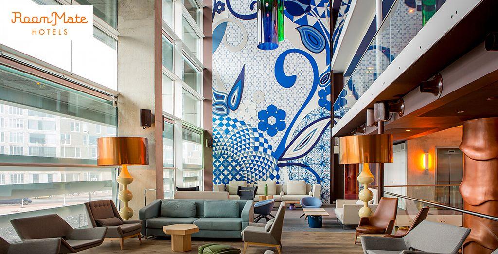 Hotel de diseño en la nueva isla artificial del río IJ, en Ámsterdam