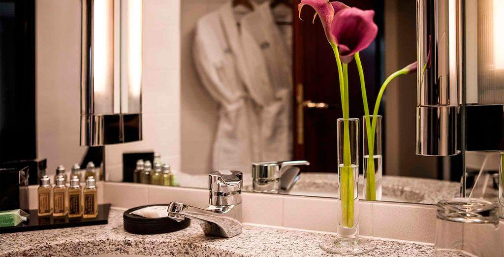 Amplios y cómodos baños en cada una de las habitaciones