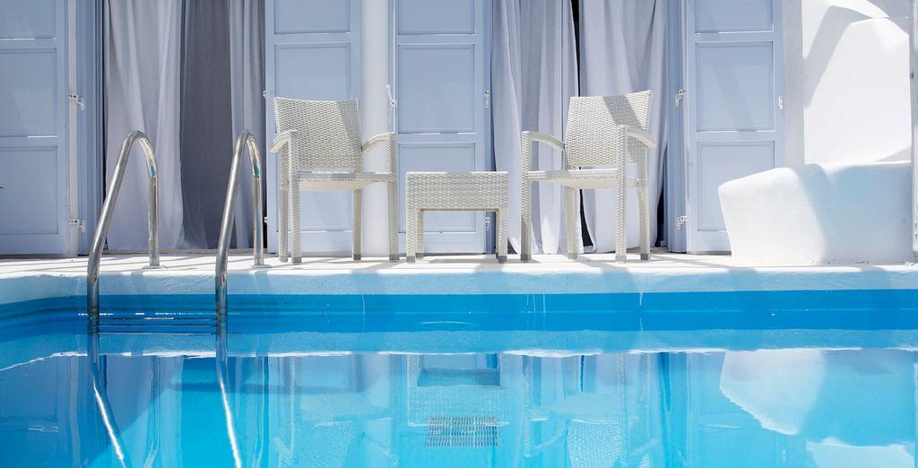 Refrésquese en esta piscina turquesa