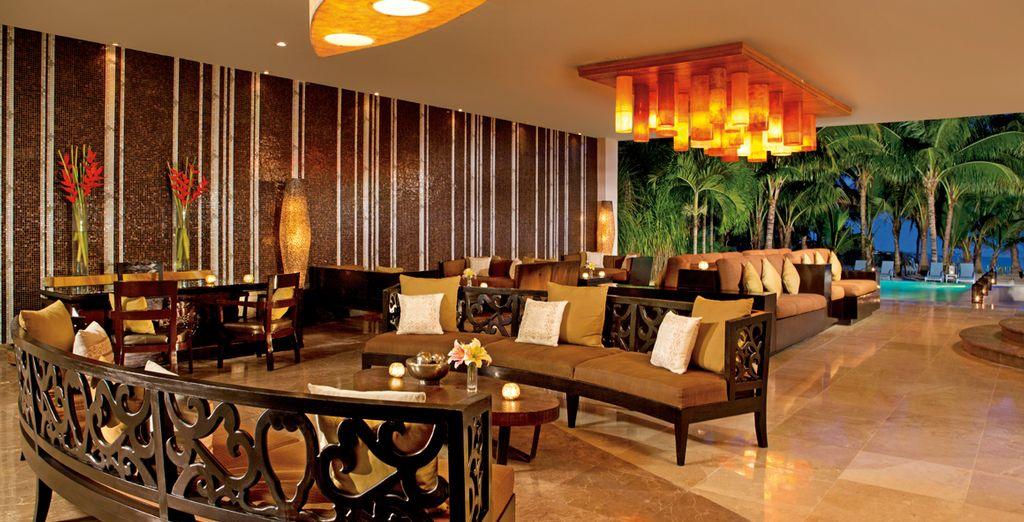 El lobby, un espacio decorado con gusto