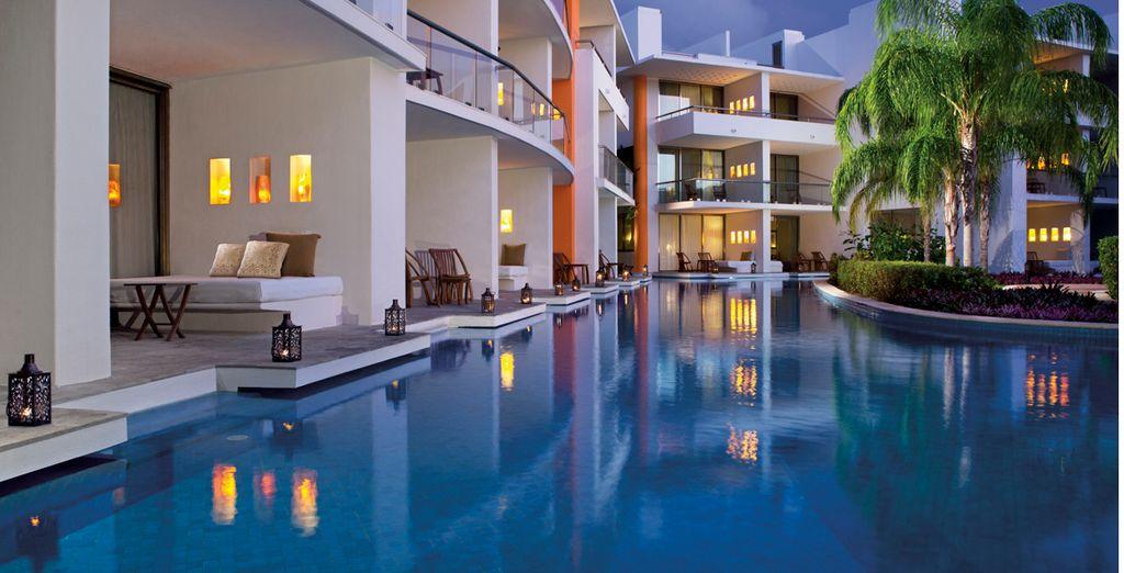 Un resort envuelto de agua y naturaleza