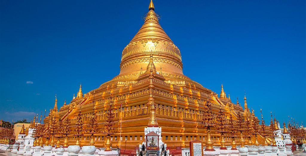 Templo Shwezigon en Bagan
