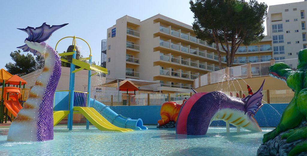 Los niños también podrán divertirse en este hotel