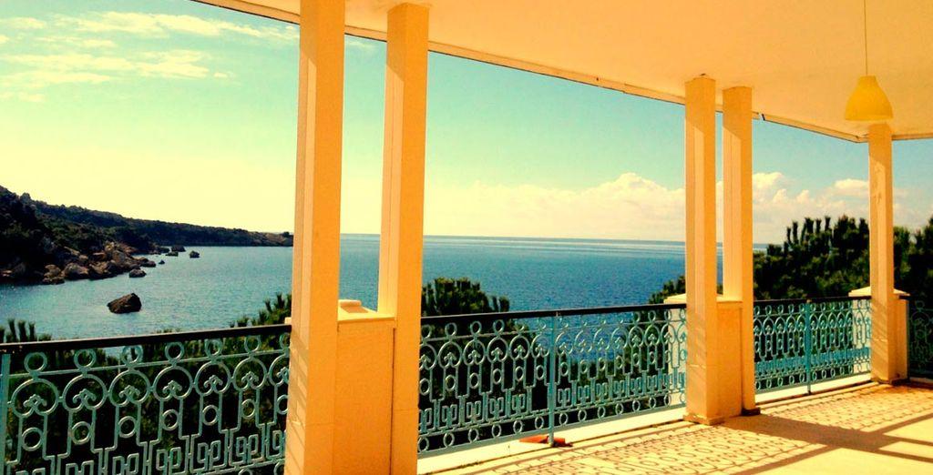 Deléitese con estas vistas al mar