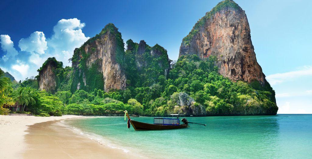 Krabi ofrece una zona de playas inigualable