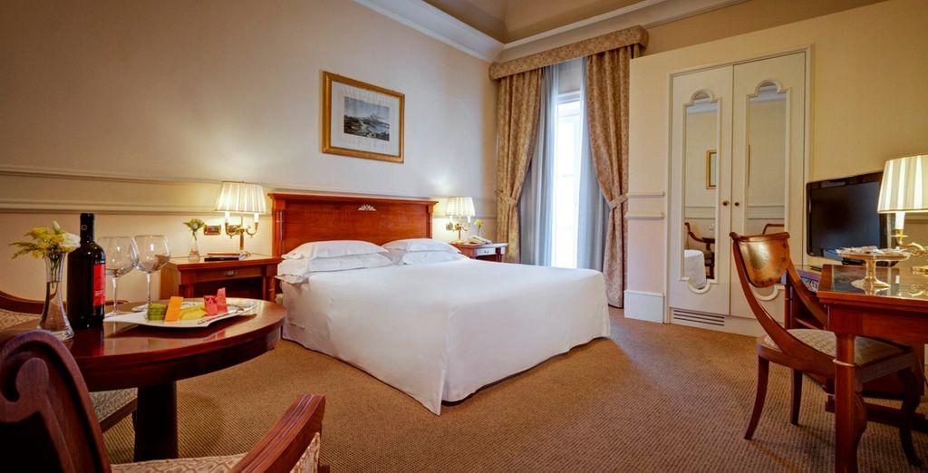 Amplias habitaciones para un merecido descanso