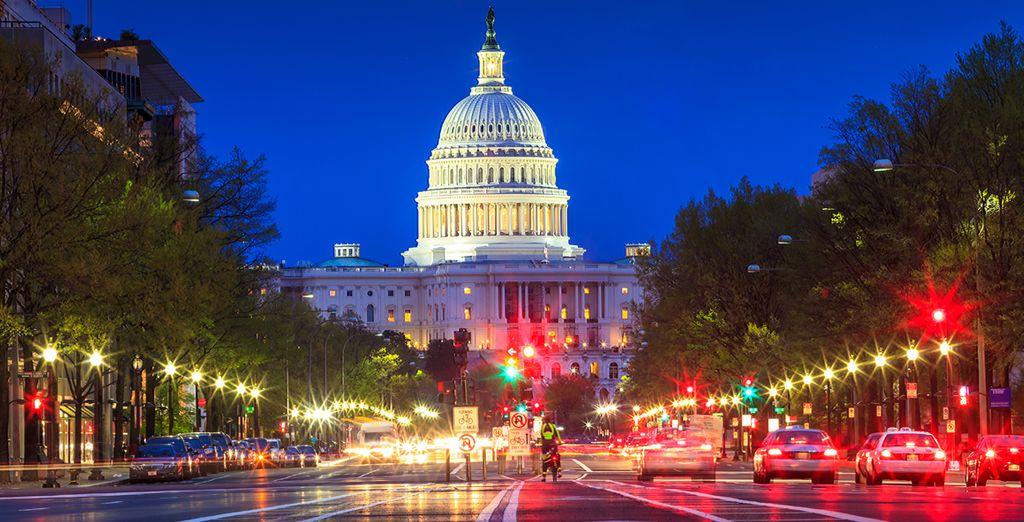 Avenidas, monumentos y espaciosos parques llenan el centro de Washington