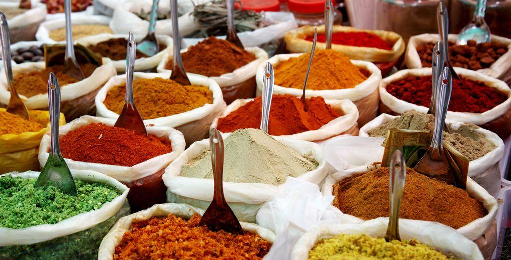 Mercadillo de especies en Agra