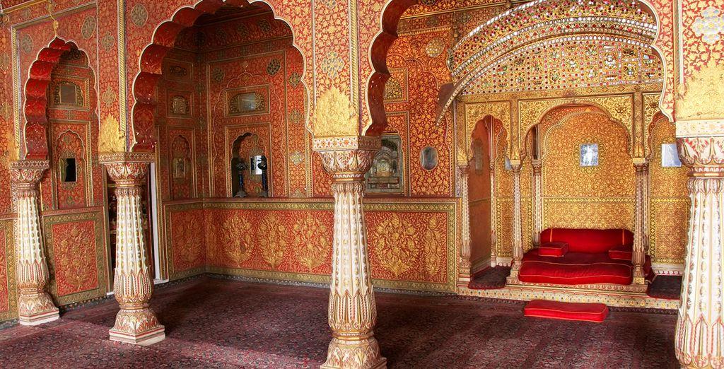 Los interiores de la fortaleza de Junagarh en Bikaner