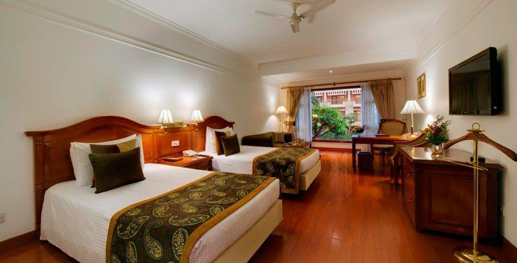 ... con habitaciones cálidas y de estilo clásico
