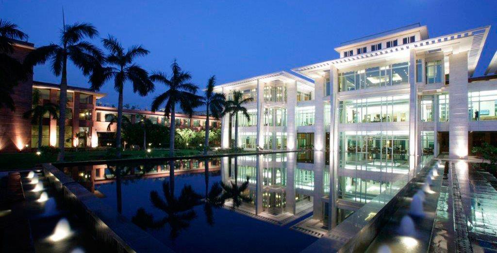 El espléndido hotel Jaypee Palace...