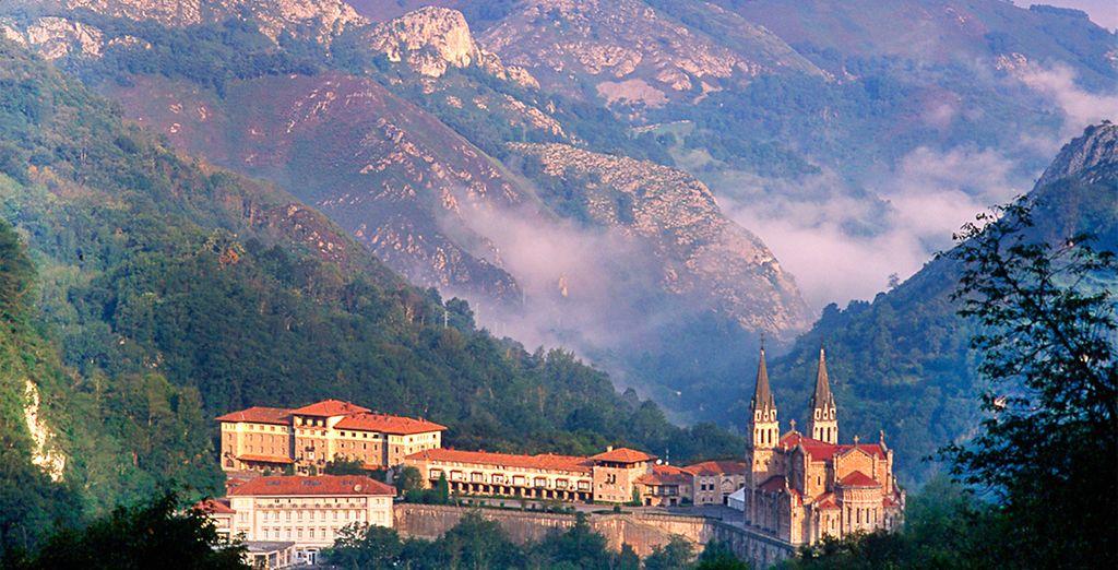 Entre las montañas en una tranquilidad absoluta...