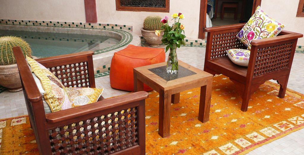 Recientemente restaurada según las tradiciones artesanales de Marruecos