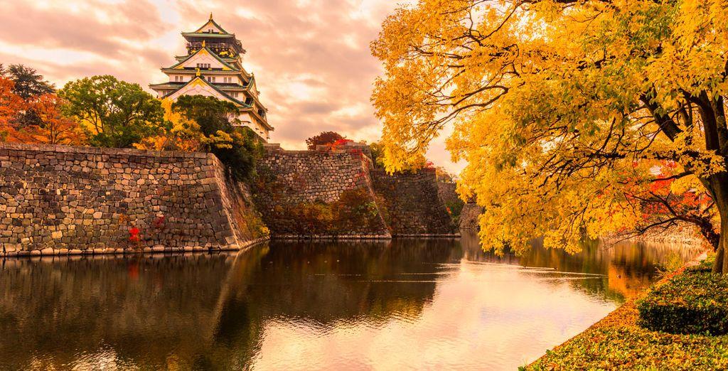 El castillo de Osaka es el templo más importante de la ciudad