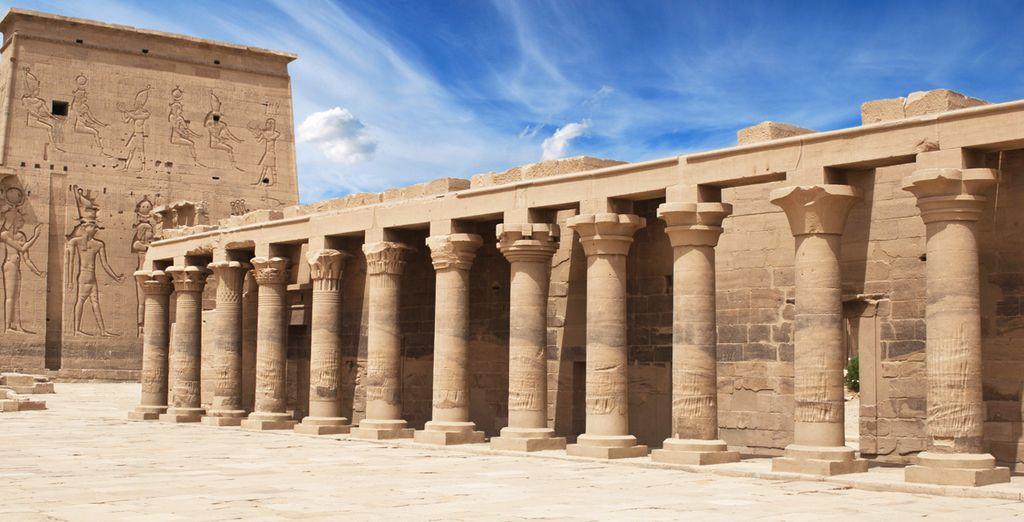 Visitará el Templo de Philae, dedicado a la Diosa Isis