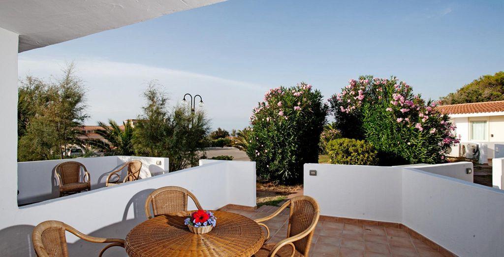 En la que contará con una fantástica terraza en la que relajarse
