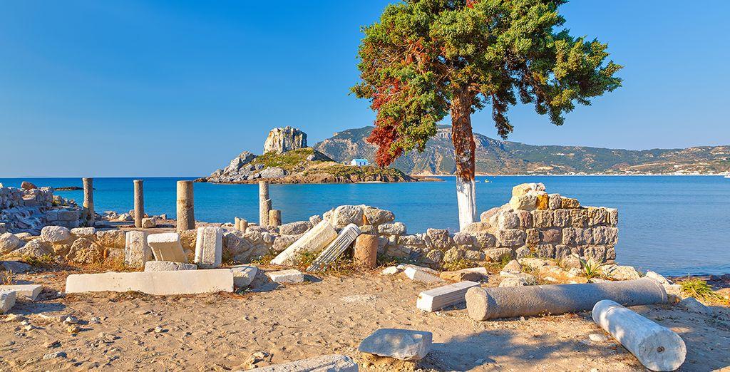 Descubra las ruinas griegas de la isla
