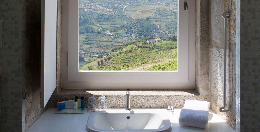 Un baño con vistas increíbles