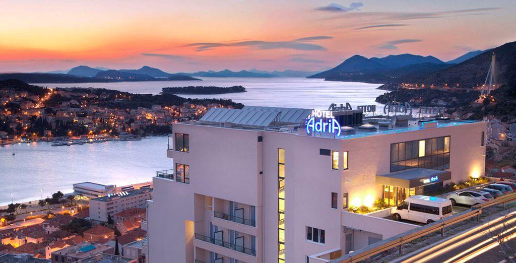 En Dubrovnik podrá alojarse en el hotel Adria 4*